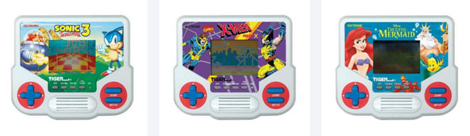 Tiger Electronics LCD handheld game reissues