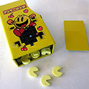 Pac-Man arcade cabinet-shaped candy tin