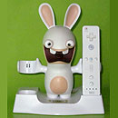 Raving Rabbids charging station for 2 Nintendo Wii game controllers