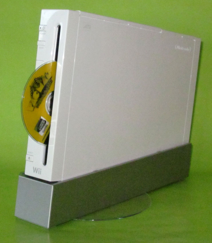 Wii with a GameCube disc
