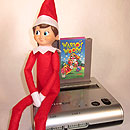Elf On The Shelf - A Retro Gaming Console Warrior