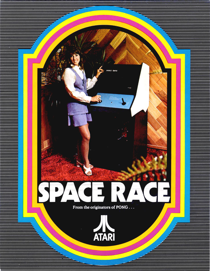 Atari's Space Race arcade flyer