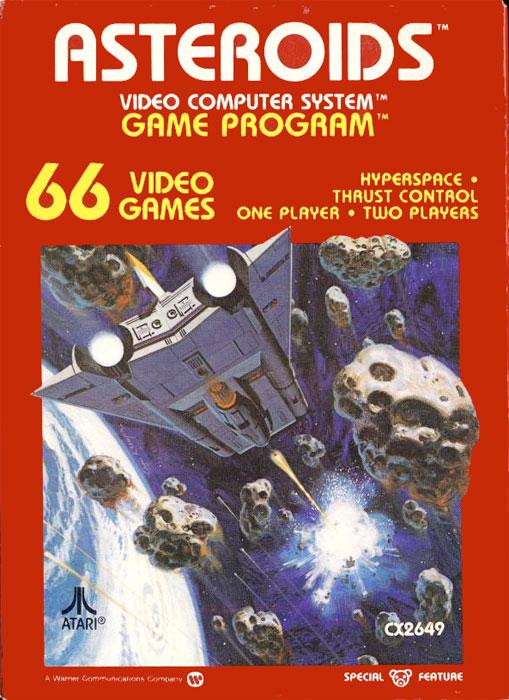 Atari 2600 Vcs Mr Do Scans Dump Download: Game Review: Atari Asteroids For #Atari 2600
