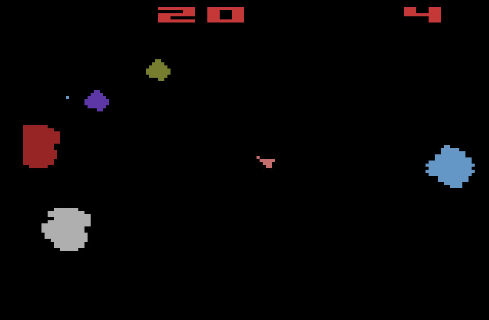 Atari Asteroids for Atari 2600 screenshot Classic Retro Gaming Video Game Review