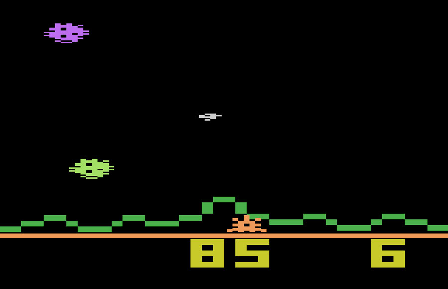 M Network Astroblast for Atari 2600 screenshot Classic Retro Gaming Video Game Review