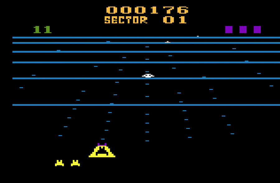 Activision Beamrider for Atari 2600 screenshot Classic Retro Gaming Video Game Review