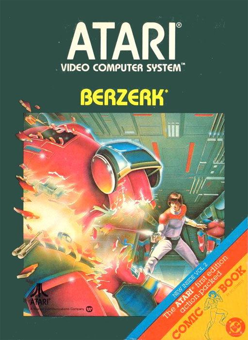 Atari Berzerk for Atari 2600 Classic Retro Gaming Video Game Review