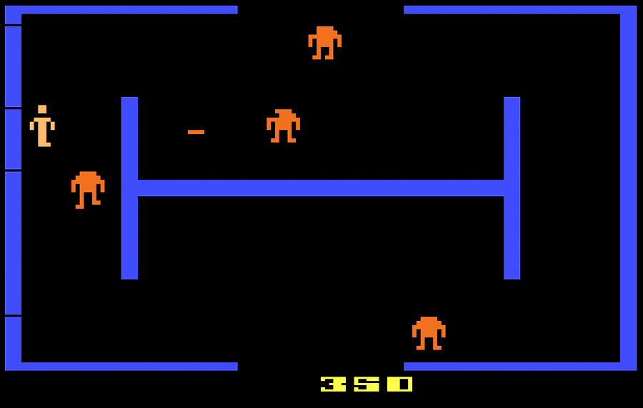 Atari Berzerk for Atari 2600 screenshot Classic Retro Gaming Video Game Review
