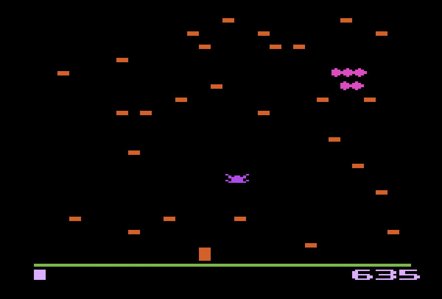 Atari Centipede for Atari 2600 screenshot Classic Retro Gaming Video Game Review