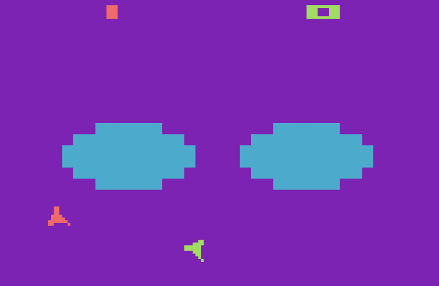 Atari Combat for Atari 2600 screenshot Classic Retro Gaming Video Game Review