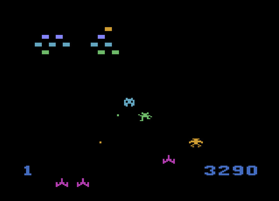 Starpath's Communist Mutants From Space for Atari 2600 screenshot Classic Retro Gaming Video Game Review