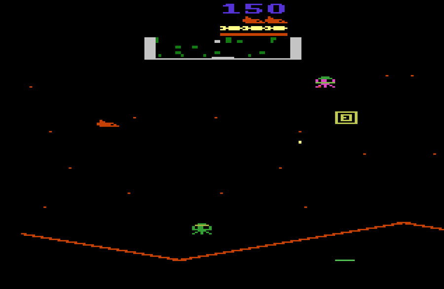 Atari Defender II for Atari 2600 screenshot Classic Retro Gaming Video Game Review