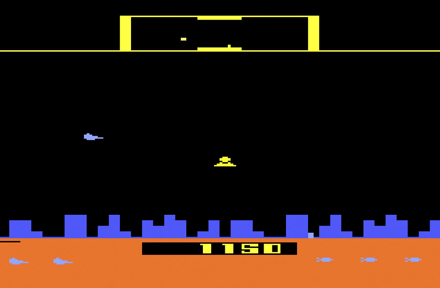 Atari Defender for Atari 2600 screenshot Classic Retro Gaming Video Game Review