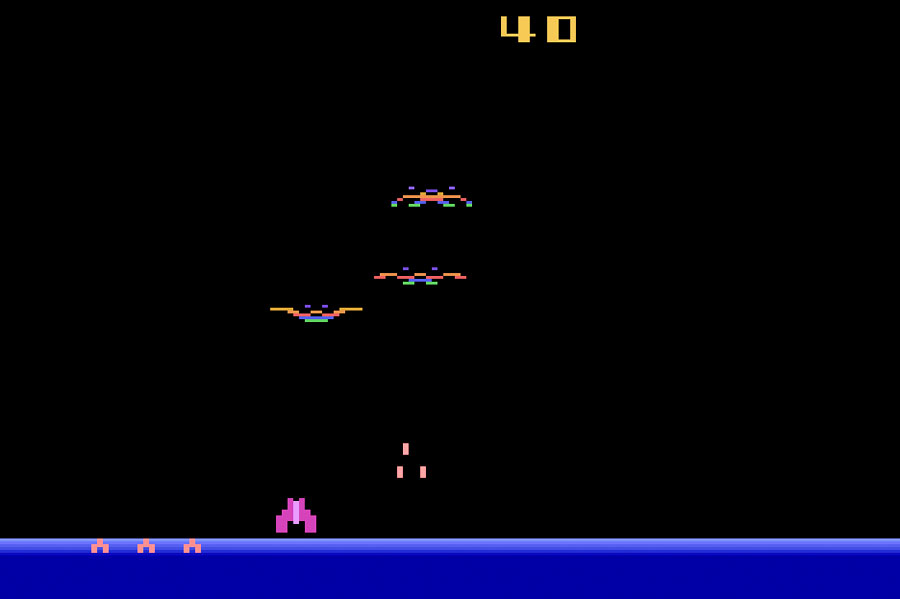 Imagic Demon Attack for Atari 2600 screenshot Classic Retro Gaming Video Game Review