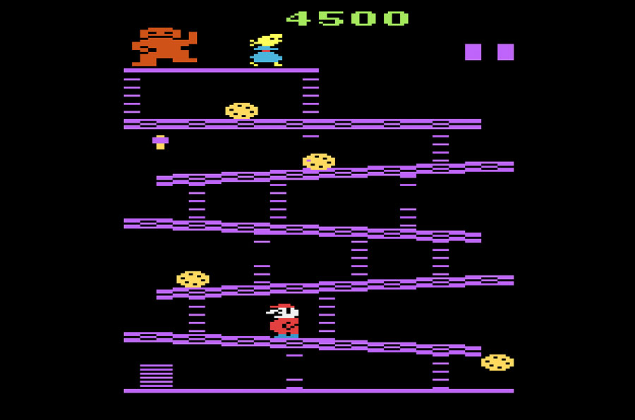 Coleco Donkey Kong for Atari 2600 screenshot Classic Retro Gaming Video Game Review