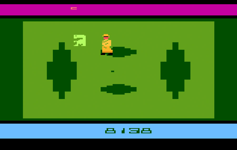 Atari E.T. The Extra-Terrestrial for Atari 2600 screenshot Classic Retro Gaming Video Game Review