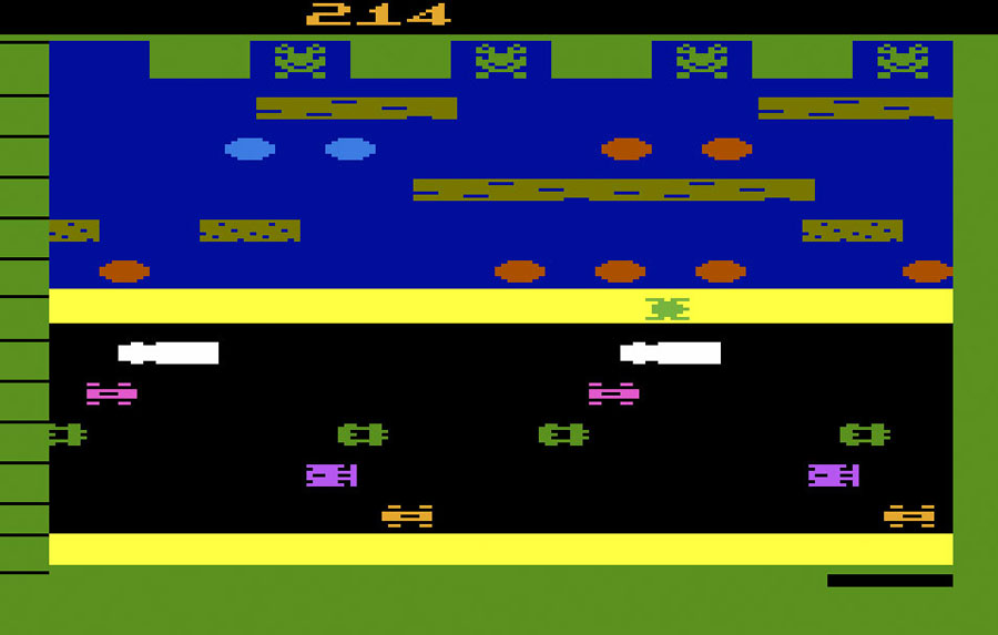 Parker Brothers Frogger for Atari 2600 screenshot Classic Retro Gaming Video Game Review