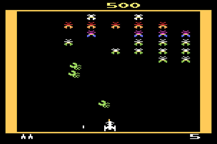 Atari Galaxian for Atari 2600 screenshot Classic Retro Gaming Video Game Review