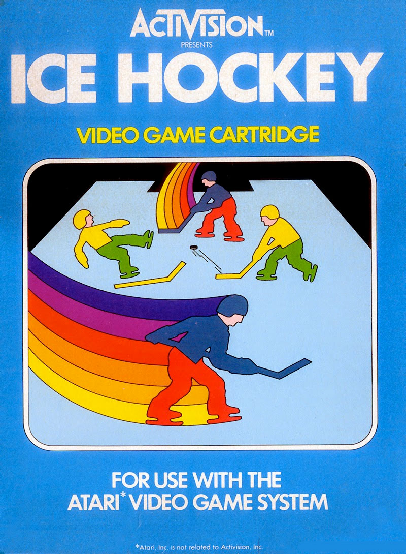 Activision's Ice Hockey for Atari 2600 Classic Retro Gaming Video Game Review