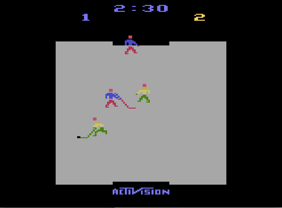 Activision's Ice Hockey for Atari 2600 screenshot Classic Retro Gaming Video Game Review