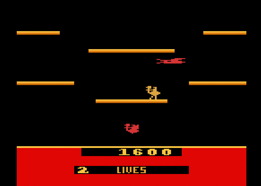 Atari Joust for Atari 2600 screenshot Classic Retro Gaming Video Game Review