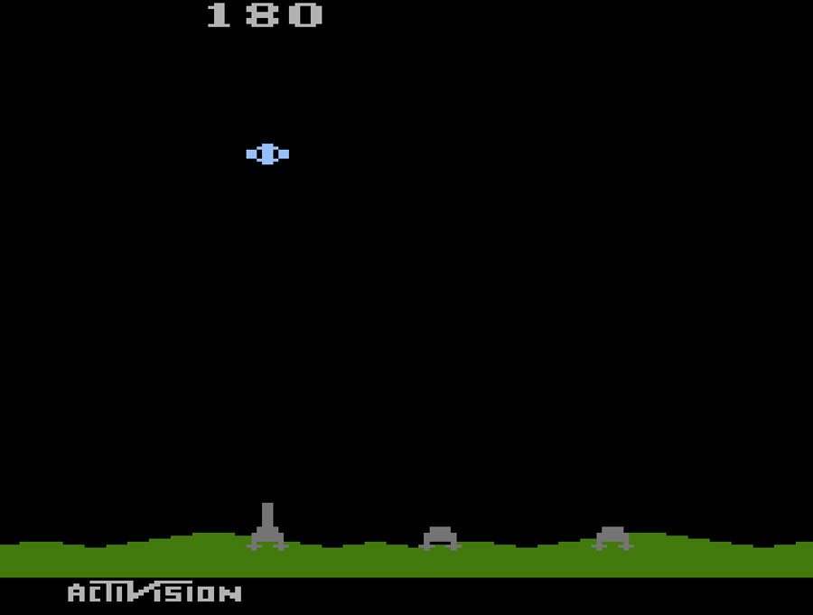 Activision's Laser Blast for Atari 2600 screenshot Classic Retro Gaming Video Game Review