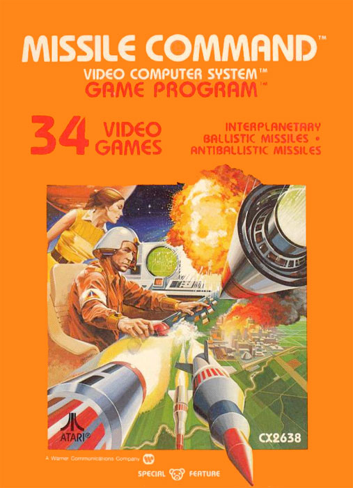 Atari Missile Command for Atari 2600 Classic Retro Gaming Video Game Review