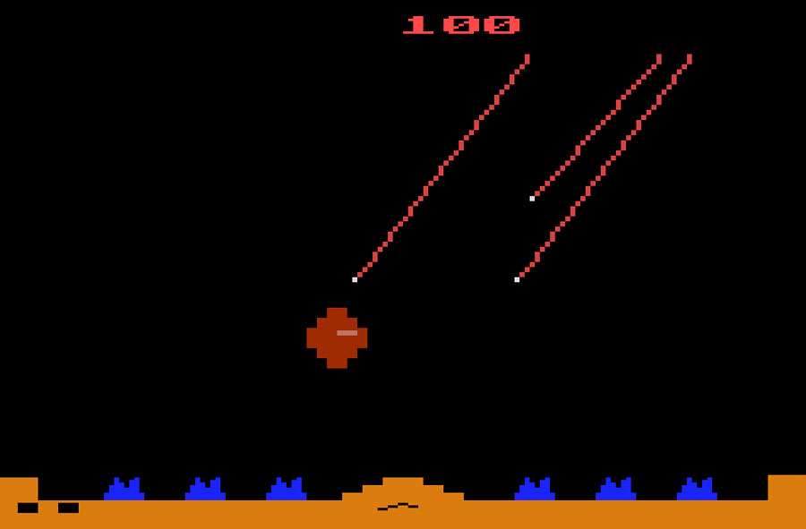 Atari Missile Command for Atari 2600 screenshot Classic Retro Gaming Video Game Review