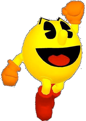 Pac-Man with arms and legs