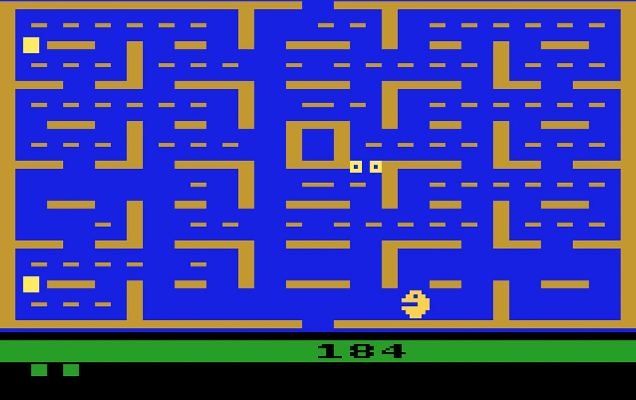 Atari Pac-Man for Atari 2600 screenshot Classic Retro Gaming Video Game Review