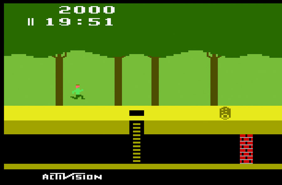 Activision Pitfall for Atari 2600 screenshot Classic Retro Gaming Video Game Review