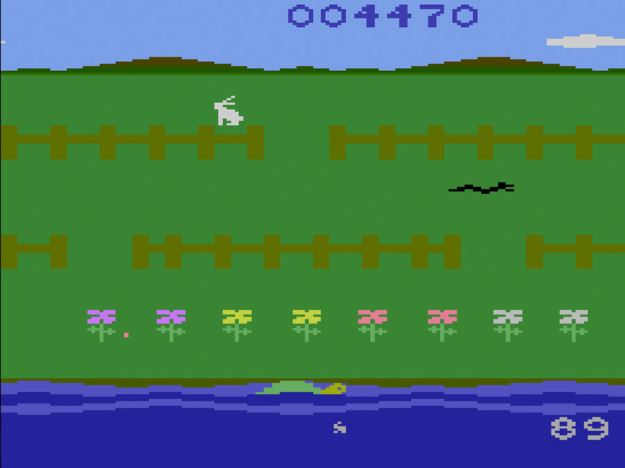 Starpath's Rabbit Transit for Atari 2600 screenshot Classic Retro Gaming Video Game Review