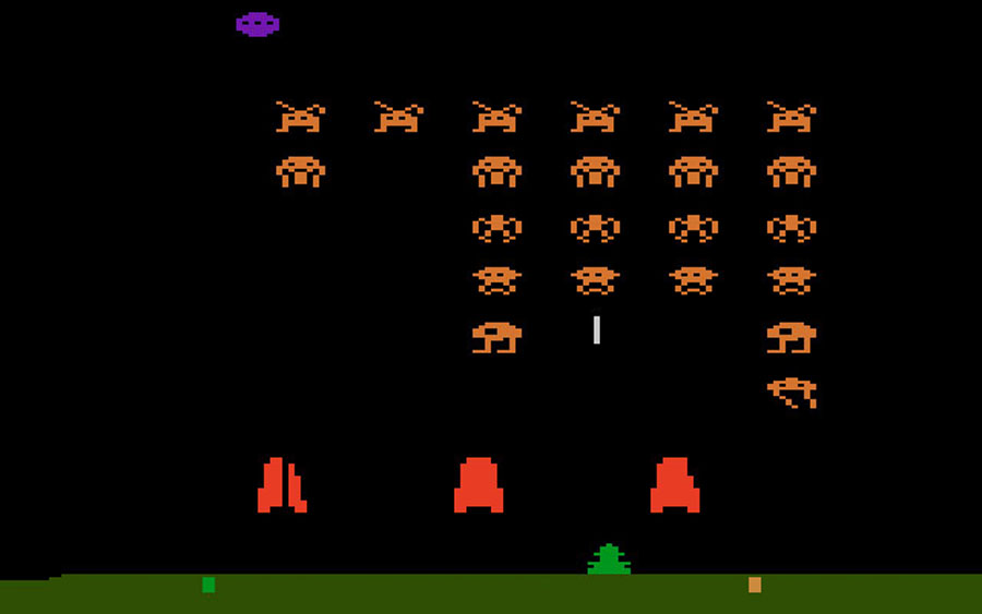 Atari Space Invaders for Atari 2600 screenshot Classic Retro Gaming Video Game Review