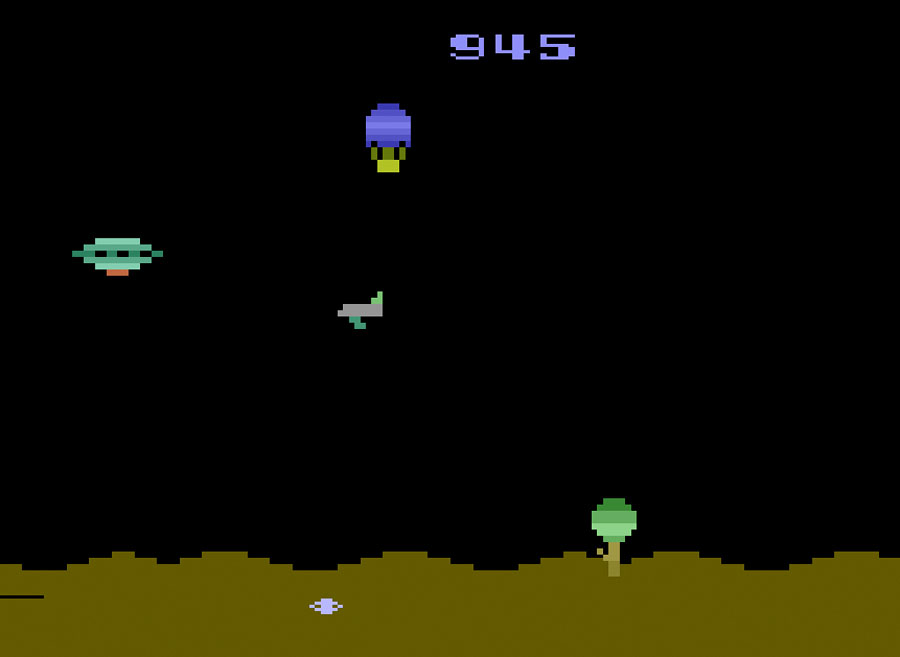 U.S. Games' Space Jockey for Atari 2600 screenshot Classic Retro Gaming Video Game Review
