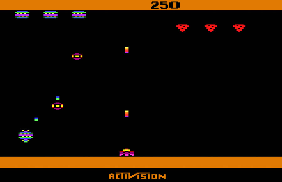 Activision Spider Fighter for Atari 2600 screenshot Classic Retro Gaming Video Game Review