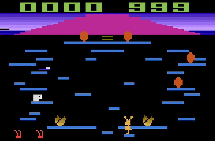 Tigervision Springer for Atari 2600 screenshot Classic Retro Gaming Video Game Review