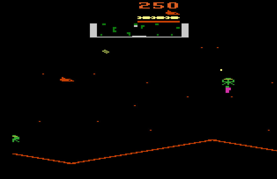 Atari Stargate for Atari 2600 screenshot Classic Retro Gaming Video Game Review