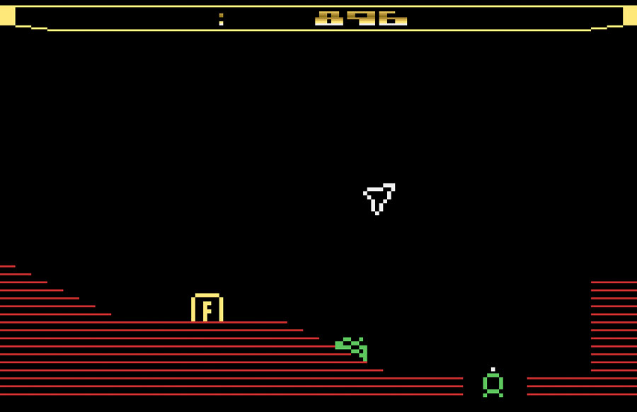 XYPE's Thrust for Atari 2600 screenshot Classic Retro Gaming Video Game Review