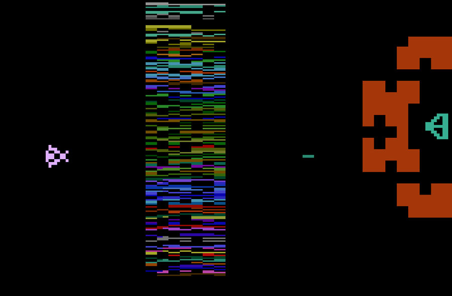 Atari Yar's Revenge for Atari 2600 screenshot Classic Retro Gaming Video Game Review