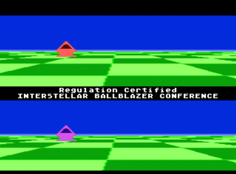 LucasFilm Ballblazer for Atari 5200 screenshot Classic Retro Gaming Video Game Review