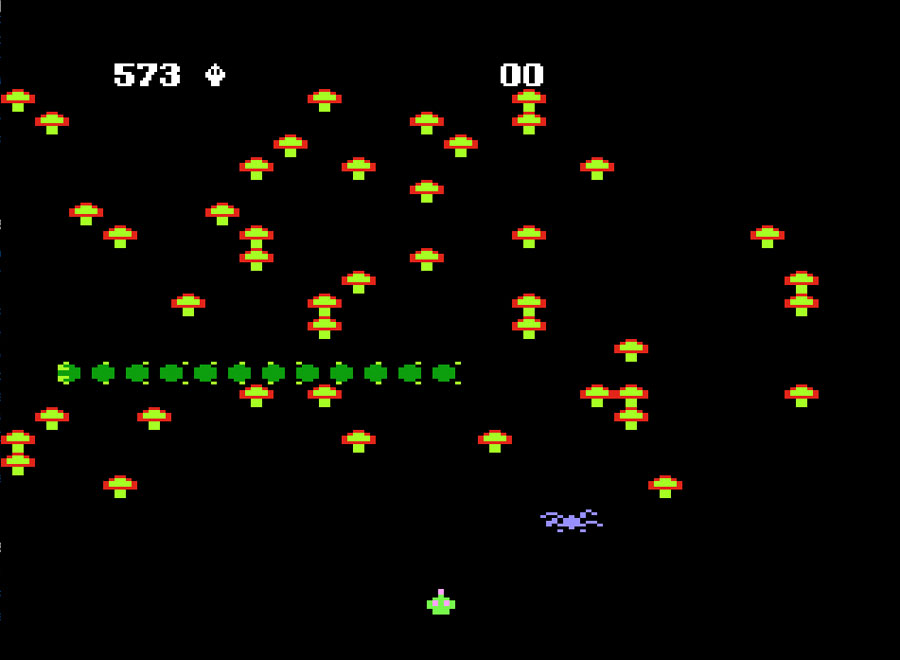 Atari's Centipede for Atari 5200 screenshot Classic Retro Gaming Video Game Review