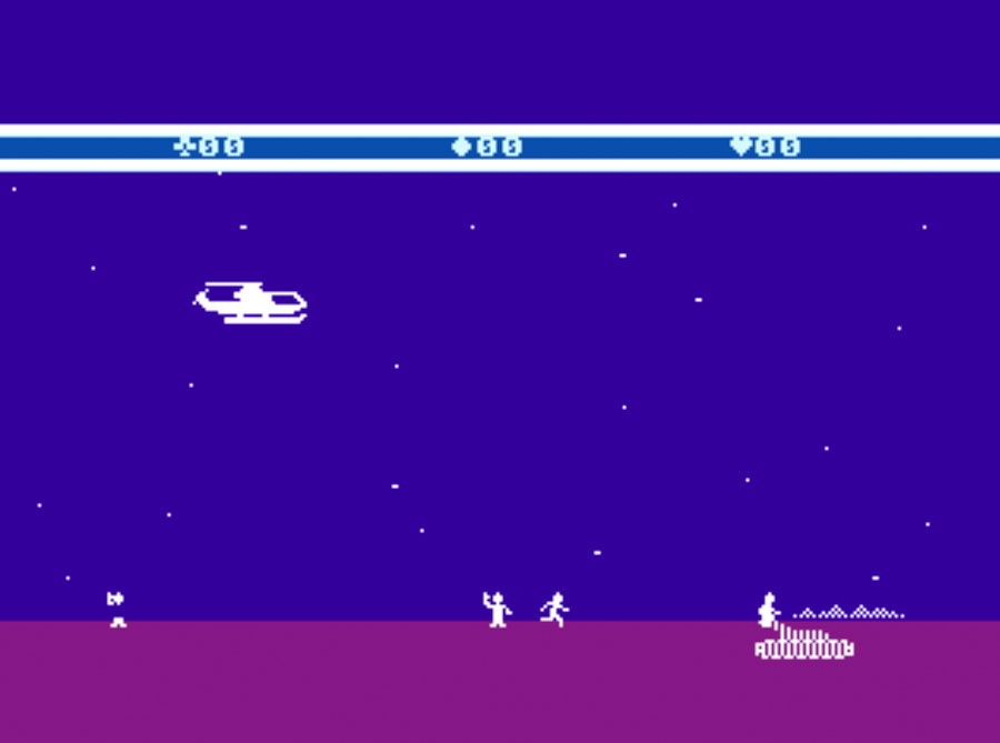Atari Choplifter! for Atari 5200 screenshot Classic Retro Gaming Video Game Review