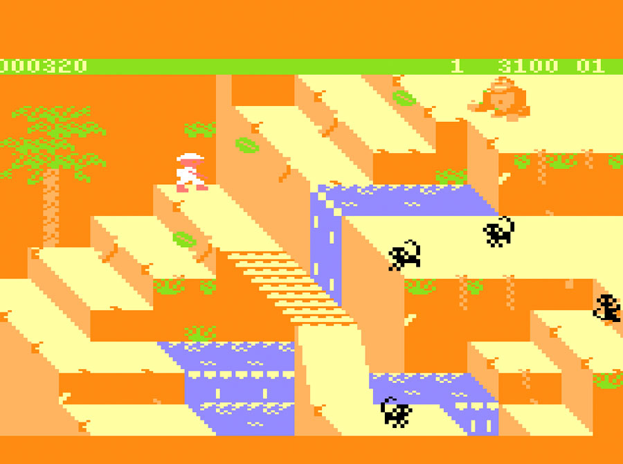 Sega's Congo Bongo for Atari 5200 screenshot Classic Retro Gaming Video Game Review