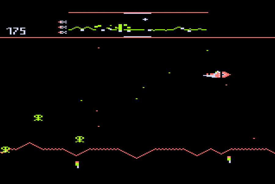 Atari Defender for Atari 5200 screenshot Classic Retro Gaming Video Game Review