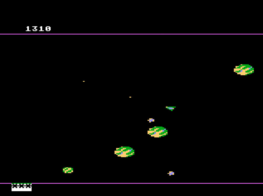 Electra Concepts' Meteorites for Atari 5200 screenshot Classic Retro Gaming Video Game Review