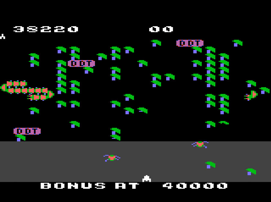 Atari Millipede for Atari 5200 screenshot Classic Retro Gaming Video Game Review