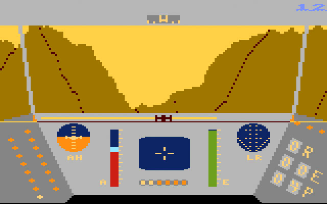 LucasFilm Rescue On Fractalus for Atari 5200 screenshot Classic Retro Gaming Video Game Review
