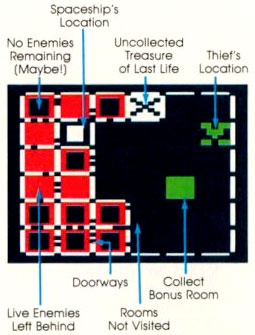 Atari Space Dungeon for Atari 5200 Map Classic Video Game Review