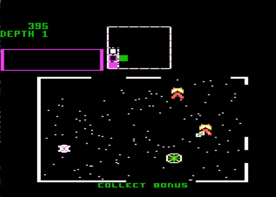 Atari Space Dungeon for Atari 5200 screenshot Classic Retro Gaming Video Game Review