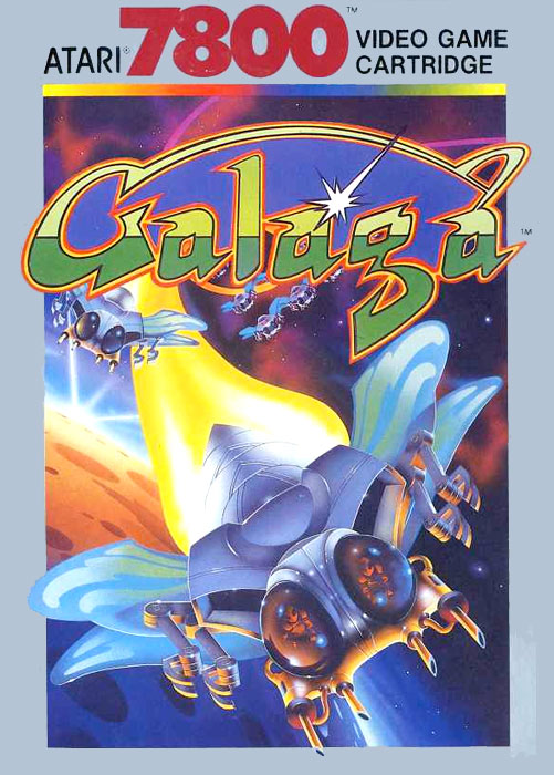 Atari Galaga for Atari 7800 Classic Retro Gaming Video Game Review